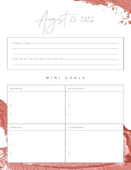 Daily Goals - Daily Planner item