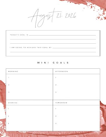 Daily Goals - Daily Planner template