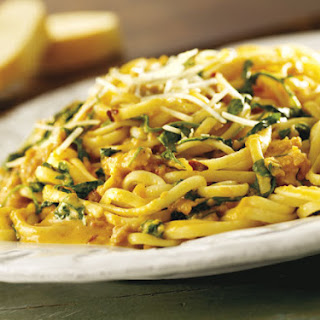Linguine with Cantaloupe and Sausage.