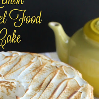 Lemon Meringue Angel Food Cake #BrunchWeek