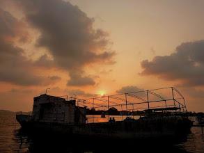 Photo: Coucher de soleil à Kochi dans le Kérala en Inde (2011)
