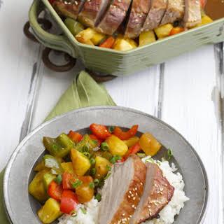 Teriyaki Pork with Pineapple and Peppers.