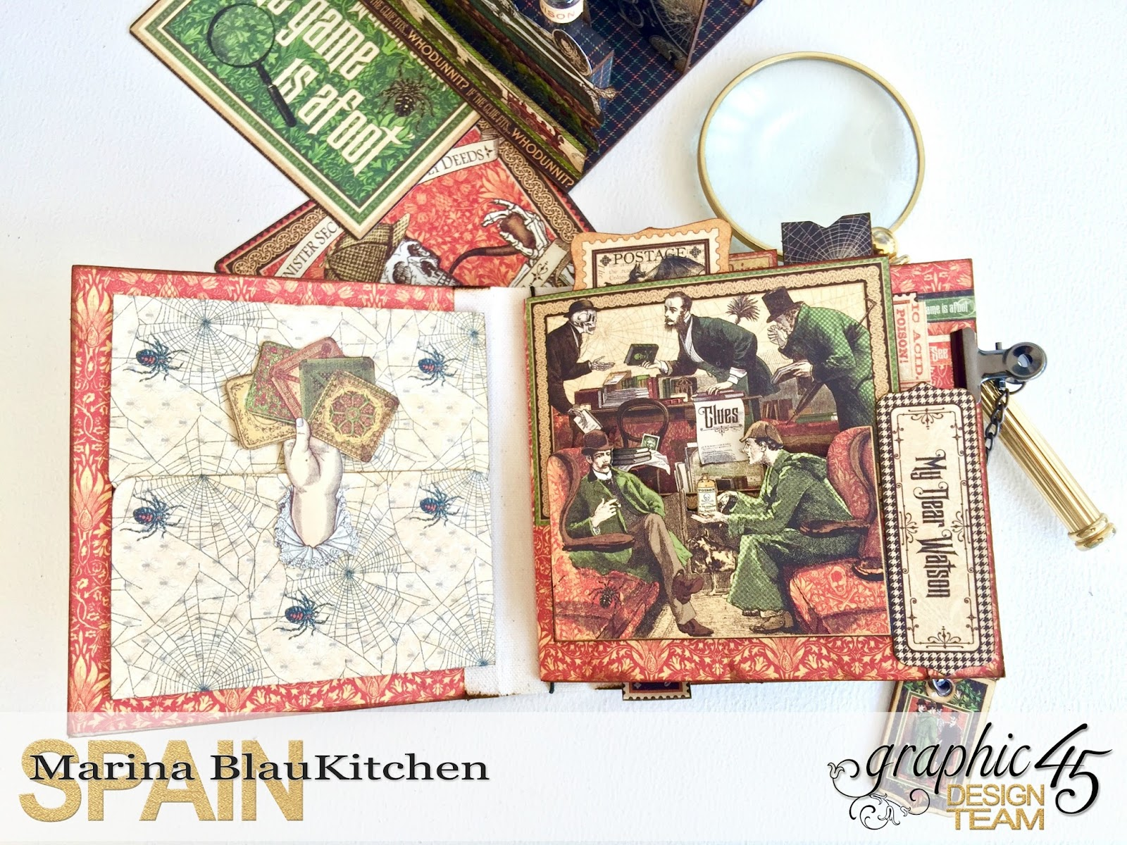 Stand and Mini Album Master Detective by Marina Blaukitchen Product by Graphic 45 photo 10.jpg