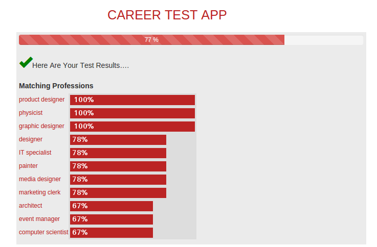 Aptitude Test App- screenshot