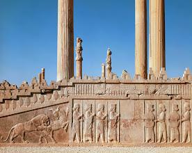 Photo: ca. 5th century B.C. --- Apadana in Persepolis: Grand Staircase --- Image by © Gianni Dagli Orti/CORBIS