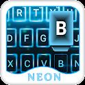 Neon Fancy Blue Emoji keyboard icon