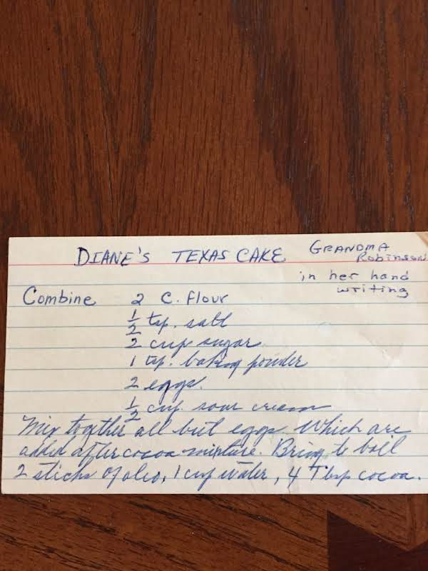 This Card Is Written In Grandma Robinson's Handwriting.