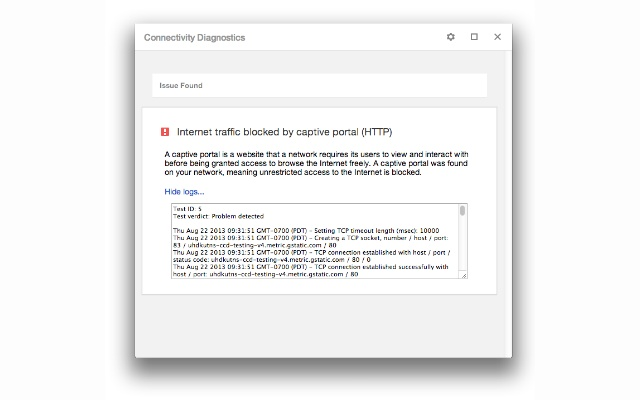 Chrome Connectivity Diagnostics