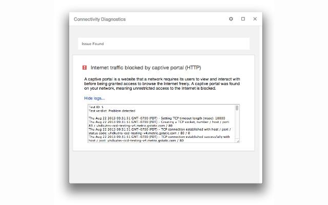 Verbindungsdiagnose für Chrome Screenshot