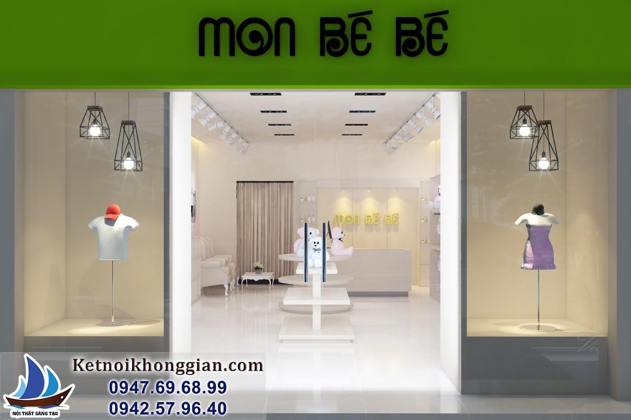 thiết kế cửa hàng thời trang trẻ em đẹp và hiện đại hàng đầu