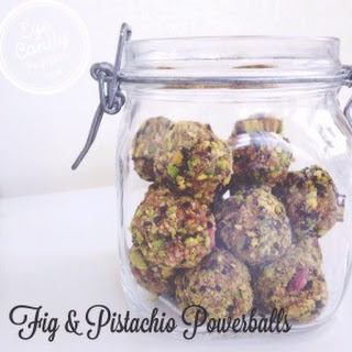 Fig And Pistachio Powerballs (raw, Vegan, Gluten-free, Paleo, Sugar-free)