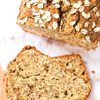 Healthy Honey Oatmeal Banana Bread.