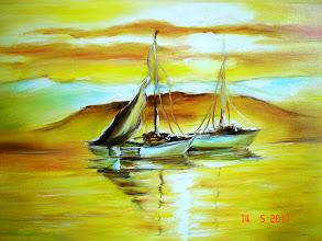 Photo: 165, Нетронина Наталья, Золотое утро на море, масло, картон, 30х21см, 480 грн.