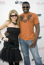 Photo: Adrienne Papp and Michael Irvin at the Spotlight Premier, honoring the Finale of Dancing with the Stars, November 24, 2009