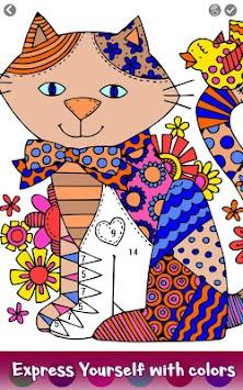 Download Kucing Warna Dengan Nomor Hewan Halaman Buku Mewarnai Apk