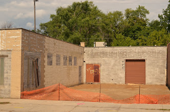 Photo: The loading bay filled in for educational addition
