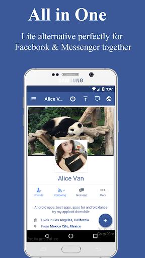 Lite Messenger for Facebook Lite by Share88 Studio (Google