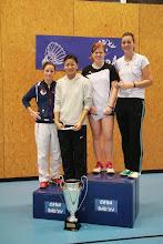 Photo: Doubles Dames B 1. Emilie Pierrot/Mathilde Berthelot (USCAC) 2. Saphie Kern (CEBA)/Evi Ngo -EnaBad)