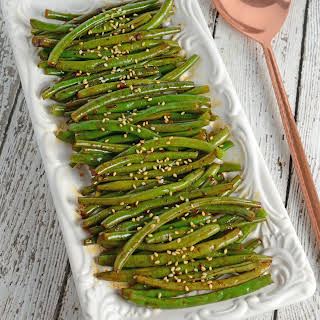 Copycat P.F. Changs Spicy Green Beans.