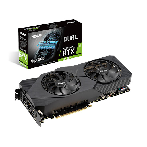 Card màn hình Asus Dual GeForce RTX 2070 Super EVO Advanced 8GB GDDR6 (DUAL-RTX2070S-A8G-EVO)