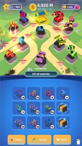 Merge Tower Bots  captures d'u00e9cran 2