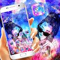 Galaxy Glitter Girl Theme 👧 icon