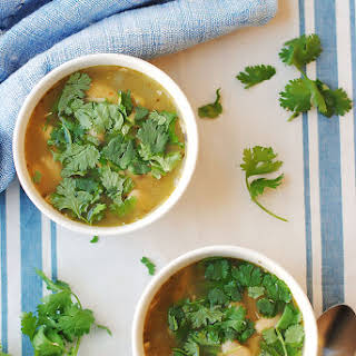 Slow Cooker Chicken and Green Chile Soup.