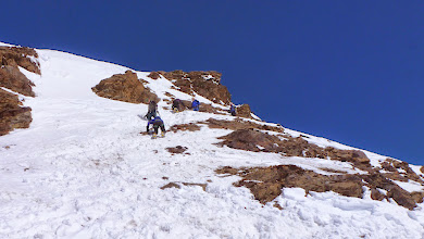 Photo: People climbing Silvrettahorn. Some used a rope but it was not necessary.