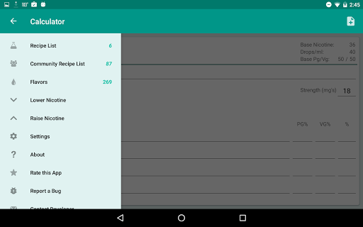 EJuice Calculator app (apk) free download for Android/PC/Windows screenshot