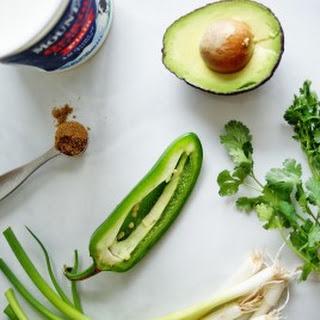 Yogurt and Avocado Dip.