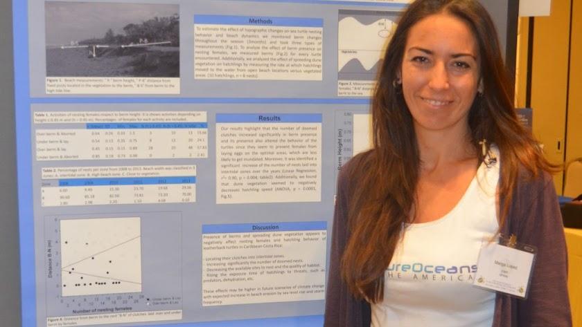 La doctora Marga López en una de sus actividades a nivel internacional.