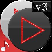 Poweramp v3 skin red dots