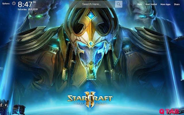 StarCraft II Game Wallpapers HD Theme
