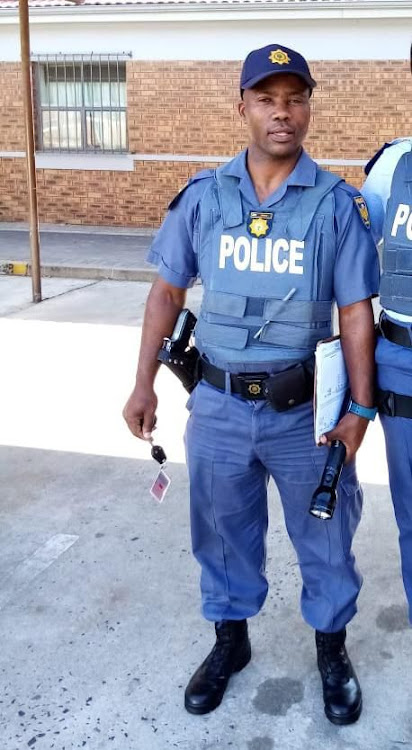 A suspect appeared in court on Tuesday in connection with the murders of Sgt Mnakwazo Mdoko (pictured), 46, and Constable Mninawa Breakfast, 28.