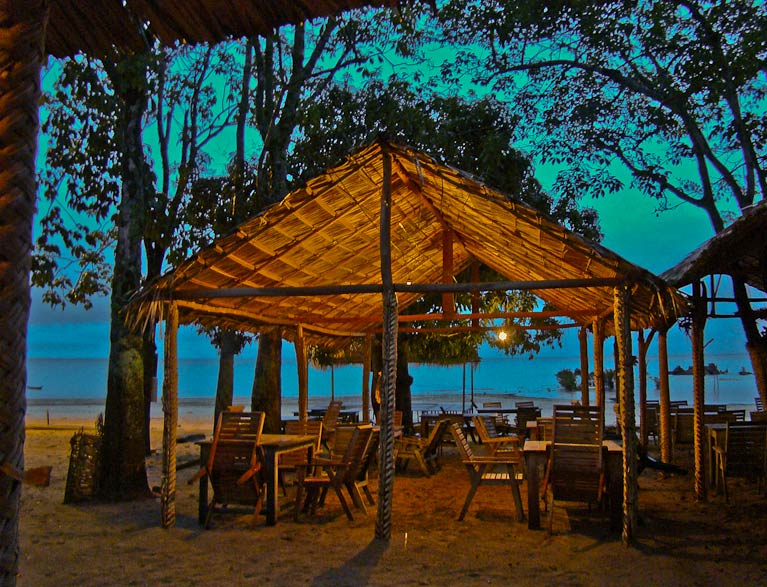 One of the cabanas at Ponta de Pedras Beach in Santarem, Brazil.
