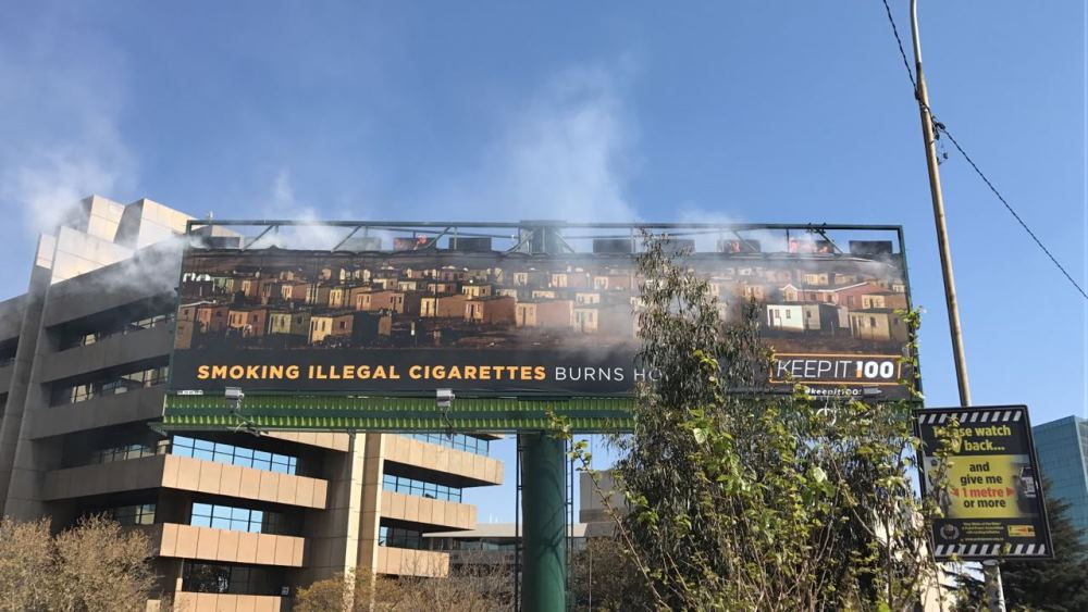 Image result for burning billboard, johannesburg