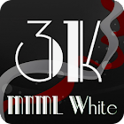 3K MNML White - Icon Pack icon