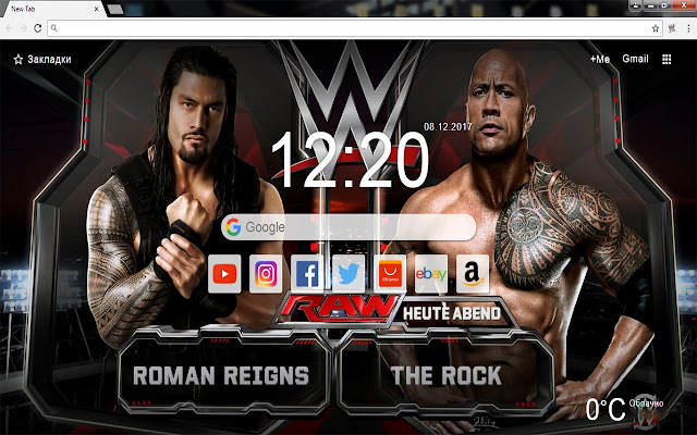 WWE - New Tab Wallpapers Themes HD