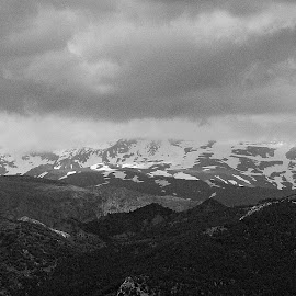 Sierra Nevada View I by Joatan Berbel - Black & White Landscapes ( spain, mountain, view, granada, andalucia, paysage, black and white, landscape )