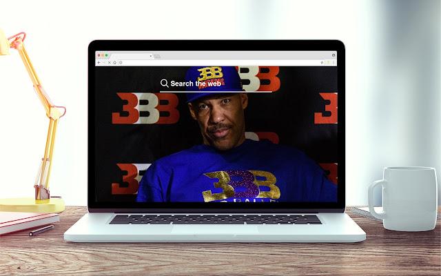Big Baller Brands New Tab NBA Theme