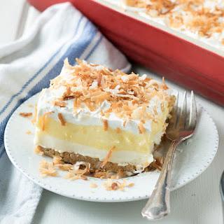 Perfect Coconut Cream Lush Dessert.