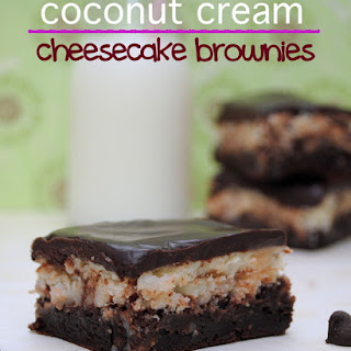 Coconut Cream Cheesecake Brownies.