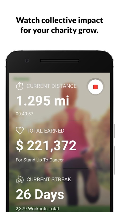 Charity Miles Walk&Run Tracker- screenshot