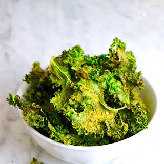 Cheesy Vegan Kale Chips.