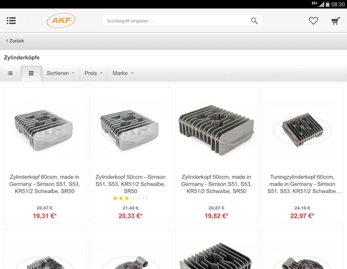 AKF Shop- screenshot
