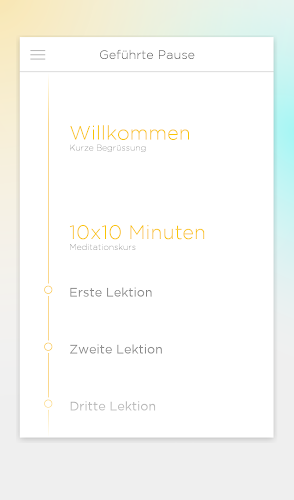 Du Hast Pause - Meditation Android App Screenshot