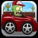 Zombie road race crash icon