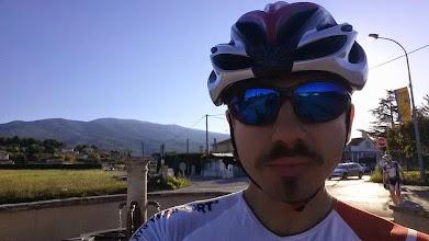 Photo: Daniel de Nice qui va effectuer sa première montée du Ventoux.