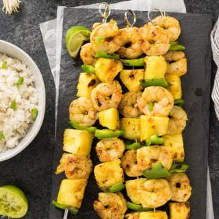 Curried Shrimp Skewers with Pineapple Recipe