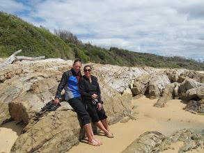 Photo: Year 2 Day 169 - Us on Dalmeny Beach